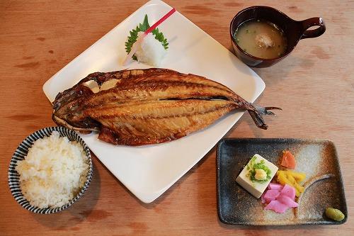 サバ文化干定食 ¥1,300